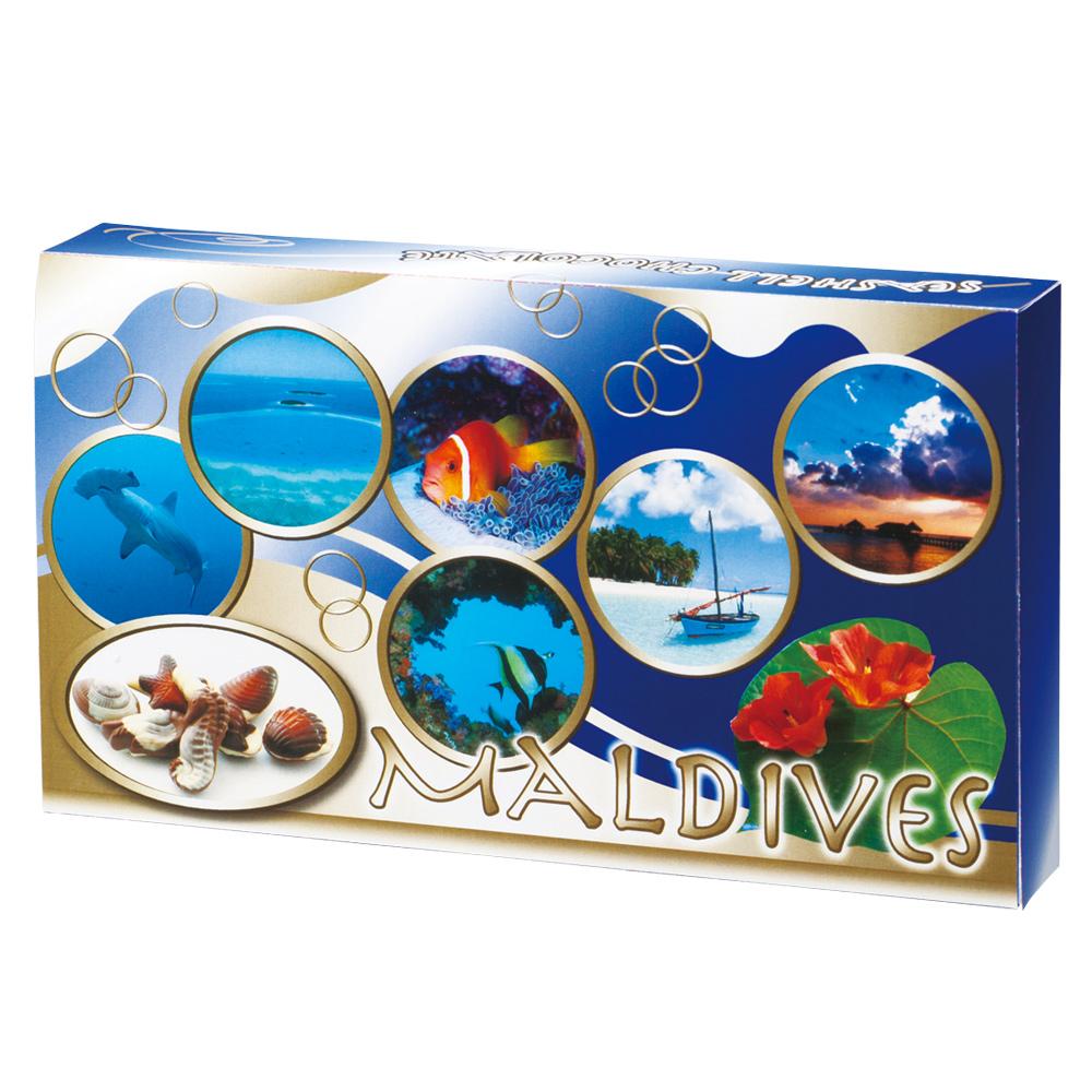 马尔代夫纪念品 | 马尔代夫贝壳巧克力 6 盒设置 P25Apr15