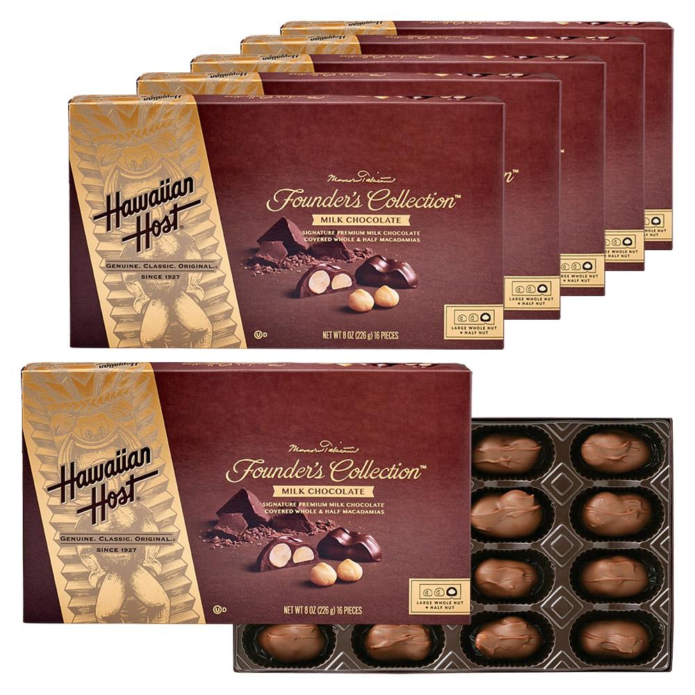 [送料無料] ハワイお土産 | ハワイアンホースト マカデミアナッツ ティキチョコレート 6箱セット【193004】