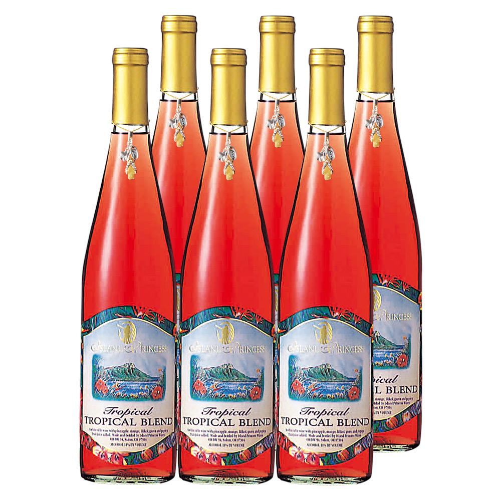 [送料無料] ハワイお土産 | トロピカルワイン やや甘口 6本セット ビーチサンダルチャーム付【R83009】