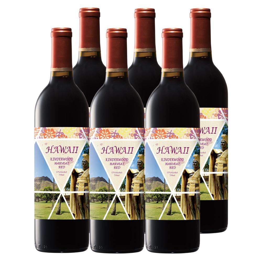 [送料無料] ハワイお土産 | ハワイワイン 赤ワイン やや軽口 6本セット【R83051】
