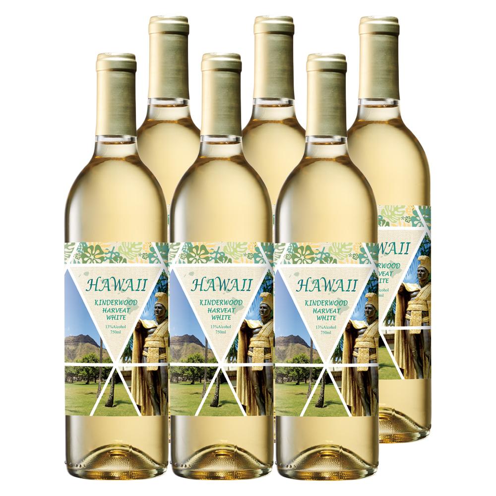 [送料無料] ハワイお土産 | ハワイワイン 白ワイン やや甘口 6本セット【R83016】