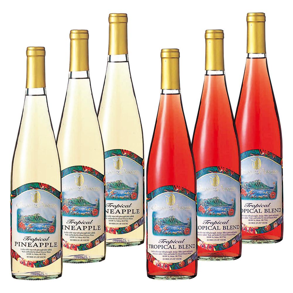 [送料無料] アメリカ・ハワイお土産 | パイナップルワイン&トロピカルワイン 各3本【R93009】