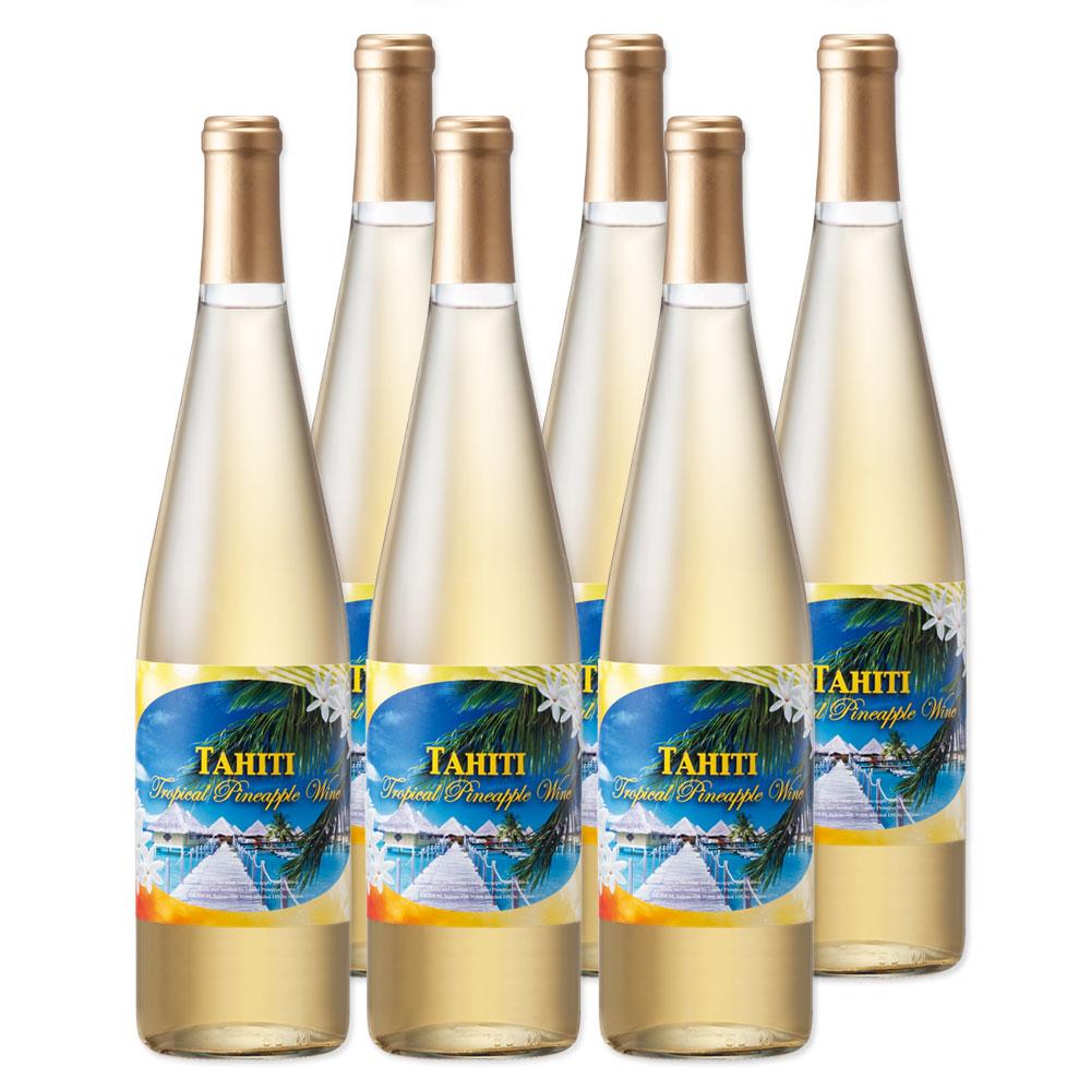[送料無料]タヒチお土産 | タヒチパイナップルワイン やや甘口 6本セット【991060】