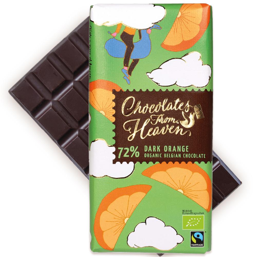 [5400円以上で送料無料][ホワイトデー] チョコレートフロムヘブン 72%ダークオレンジ【880213】