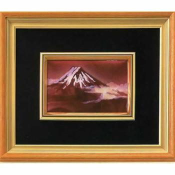 [5400円以上で送料無料] 日本からの土産 | 七宝額「赤富士」 ( 日本からのお土産 )