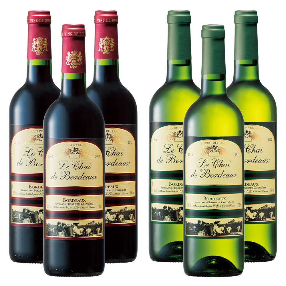 [送料無料] ル・シェ・ド・ボルドー 赤ワイン・白ワイン 6本セット【R91010】