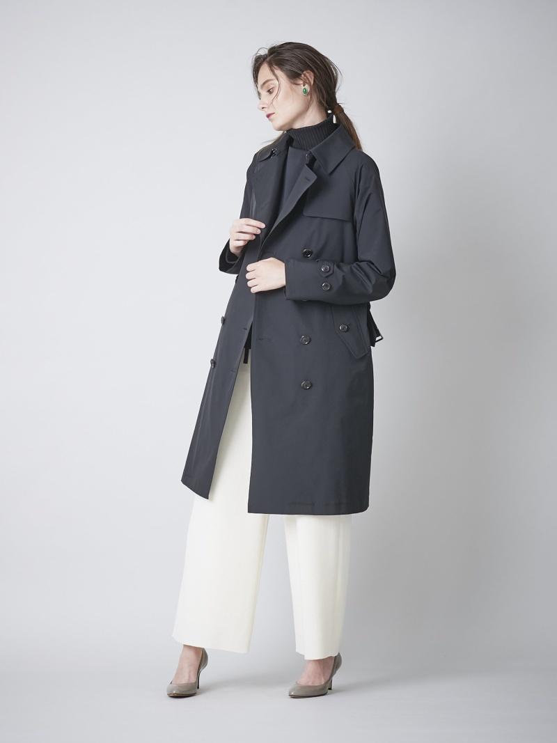 [ Fashion]<UMBRELLACOAT>ハイカウントダブルトレンチコート SANYO サンヨーコート コート/ジャケット レインコート カーキ ブラック【送料無料】