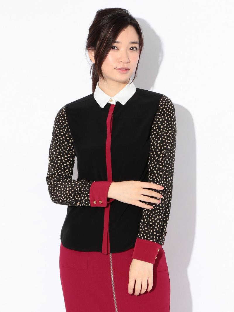 [ Fashion]【SALE/33%OFF】【GUILDPRIME】WOMENSカラーブロックドットシャツ LOVELESS ラブレス シャツ/ブラウス 長袖シャツ ブラック【RBA_E】【】:SANYO SELECT