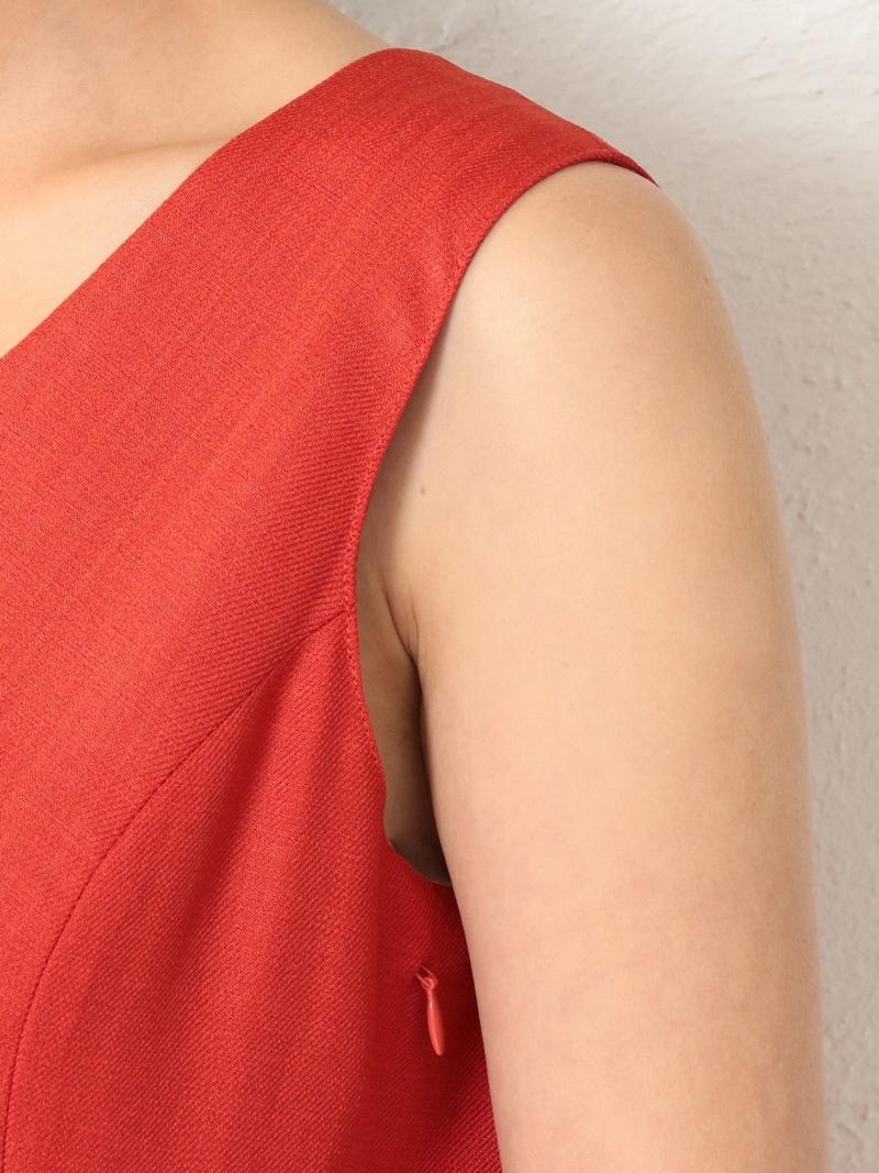 FashionSALE 30 OFFLOVELESS WOMENリネンライクVネックアシンメトリードレス LOVELESS ラブレス ワンピース シャツワンピース オレンジ RBA E送料無料Nn08mw