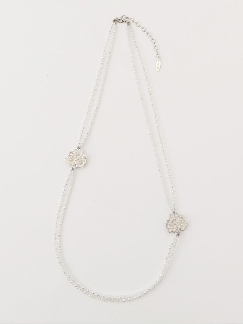 [Rakuten Fashion]ガラスフルールネックレス TO BE CHIC トゥー ビー シック アクセサリー ネックレス ホワイト ブラック ブルー【送料無料】【RBA_E】【SALE/