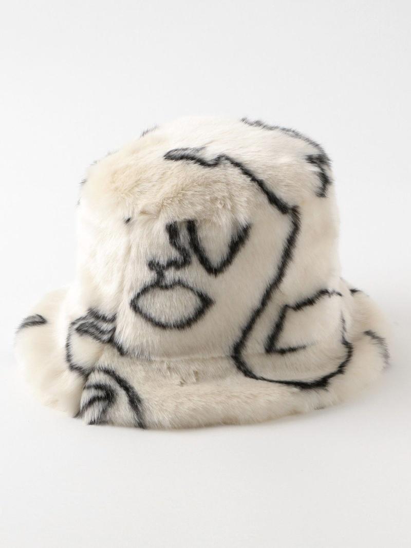 送料無料 激安 お買い得 キ゛フト LOVELESS レディース 供え 帽子 ヘア小物 ラブレス Rakuten Fashion jakke. WOMEN FAUX FUR HATTIE HAT ハット BUCKET 送料無料 ホワイト