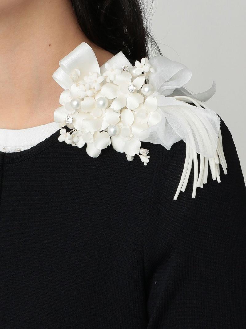 [Rakuten Fashion]グランブーケコサージュ TO BE CHIC トゥー ビー シック アクセサリー ブローチ/コサージュ ホワイト ブラック【送料無料】
