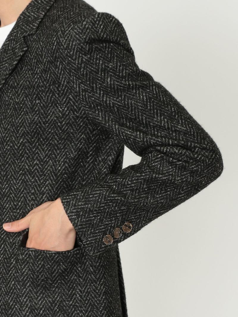 FashionSALE 65 OFFEducationfromYoungmachines MAPELヘリンボンWジャケット LOVELESS ラブレス コート ジャケット テーラードジャケット グレー ホワイト RBA E送料無料BoeWrCdx