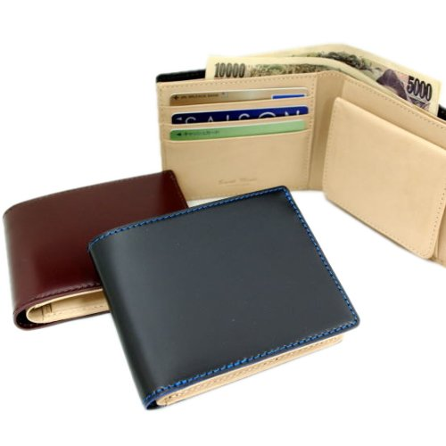 【Saint Mode CORDOVAN】新喜皮革 財布【二つ折財布】国内コードバンタンナー・コードバン×本ヌメ革 BOX型小銭入れ付二つ折財布