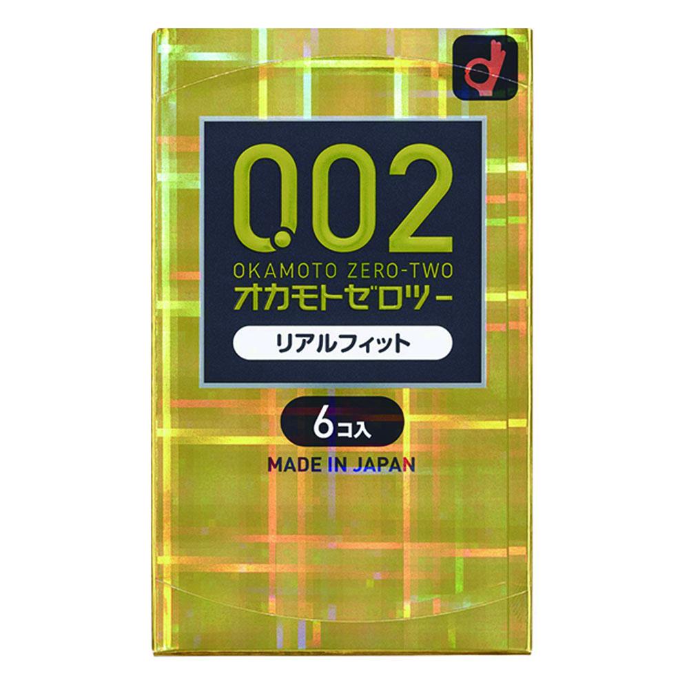 オカモト002(ゼロツー) リアルフィット(6コ入)コンドーム 避妊具 送料無料