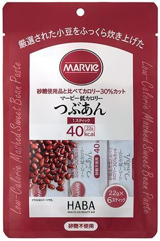 店舗 厳選した小豆の贅沢な味わい 合算3150円で送料無料 登場大人気アイテム マービー低カロリー つぶあん スティック6本タイプ