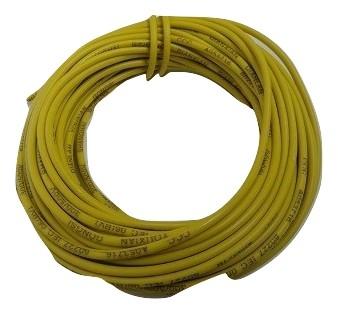 電子工作用電線コード通販・販売 工作用電線 黄4 AVR 0.75 外径約2.2mm 芯線数約21 長さ約10m <cod-084>