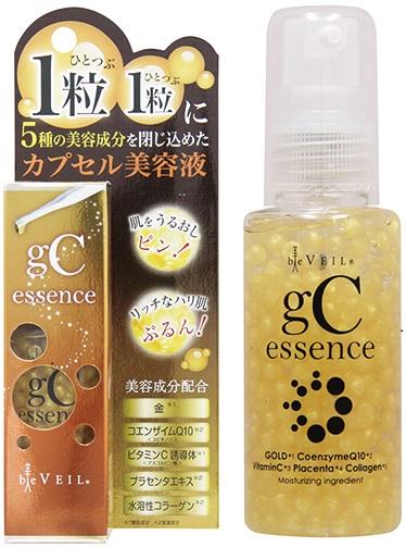 """迄今没有""""美面纱gC精华""""50ml的新的形状的美容液诞生! 在水泵式东西推的话包括美容成分在内的粒裂开,对肌肤用作为新鲜的状态送♪"""
