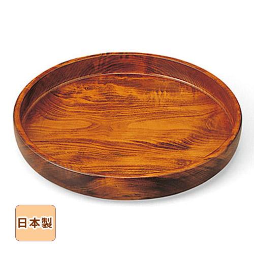 木曽ろくろ 栃 丸盆 尺○ Φ30cm お盆 トレイ