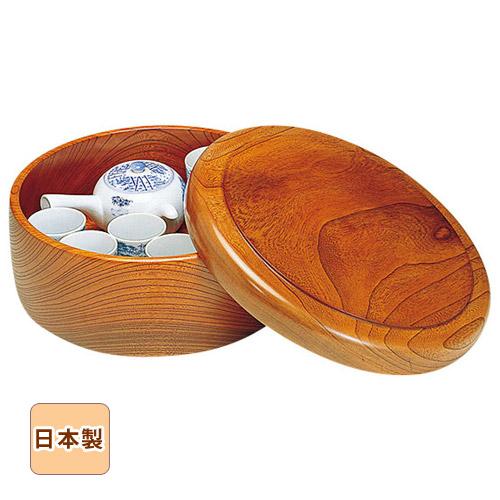 【10%OFF】木曽ろくろ ケヤキ・茶びつ 尺1 Φ34.5cm ※受注生産品納期にお時間頂戴します