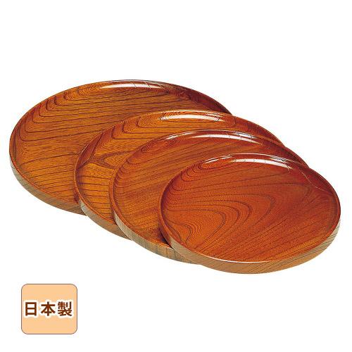 木曽ろくろ ケヤキ・仁取盆 尺○ Φ29.5cm お盆 トレイ