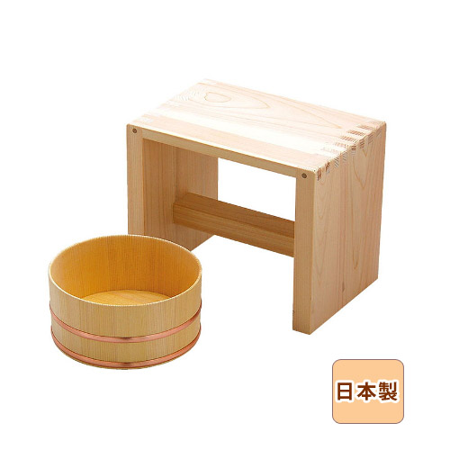 【10%OFF】湯浴セット 日本製 天然木