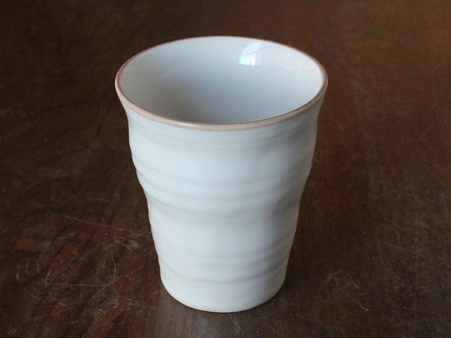 マルチカップ 手作り風 アイボリー 購買 コップ 未使用 和ナチュラル 鉄粉多い アウトレット お茶 業務用食器 茶線粉引手びねり風フリーカップ