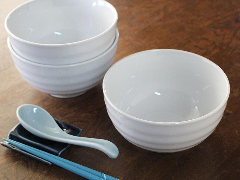 白磁 白い食器 小さい丼 多用丼 アウトレット 3個1000円送料無料 直径15.3cm 公式ストア 同梱OK 流行 線段の白い小丼どんぶり