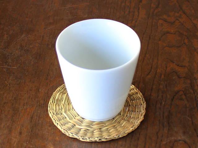 シンプルでスマートなカップ ジュース お茶 デザート マーケット アウトレット 口径8cm×高さ8cm 祝開店大放出セール開催中 そば猪口 白磁V型フリーカップ
