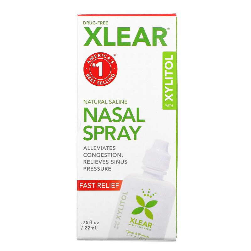 700596000018 Xlear 通常便なら送料無料 Natural Saline ナザールスプレー with オンラインショッピング floz 22ml 0.75 Relief Xylitol Fast