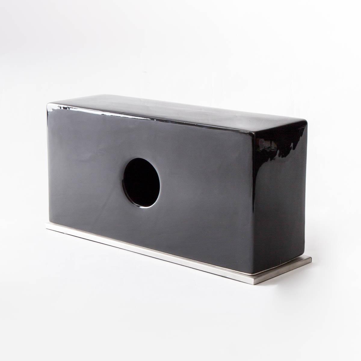 b2c お気に入り セラミック ティッシュスタンド ブラック ティッシュケース ボックス#SL_BT ティッシュカバー 永遠の定番 ポケットティッシュ