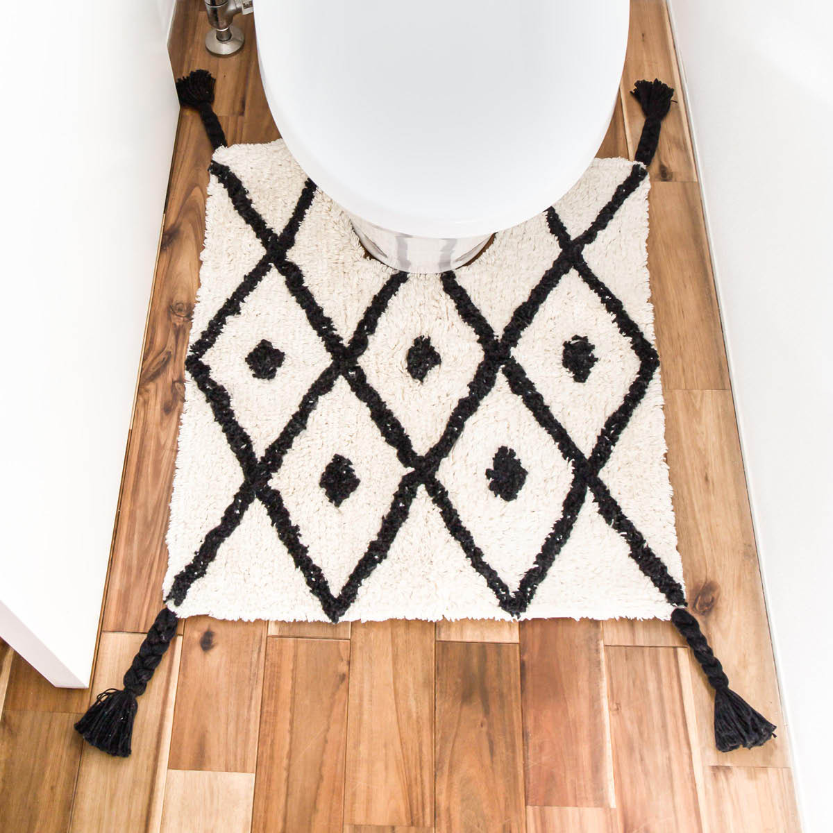丸洗いOKのトイレマット [b2c トイレマット-L チェック] サラサデザインストア