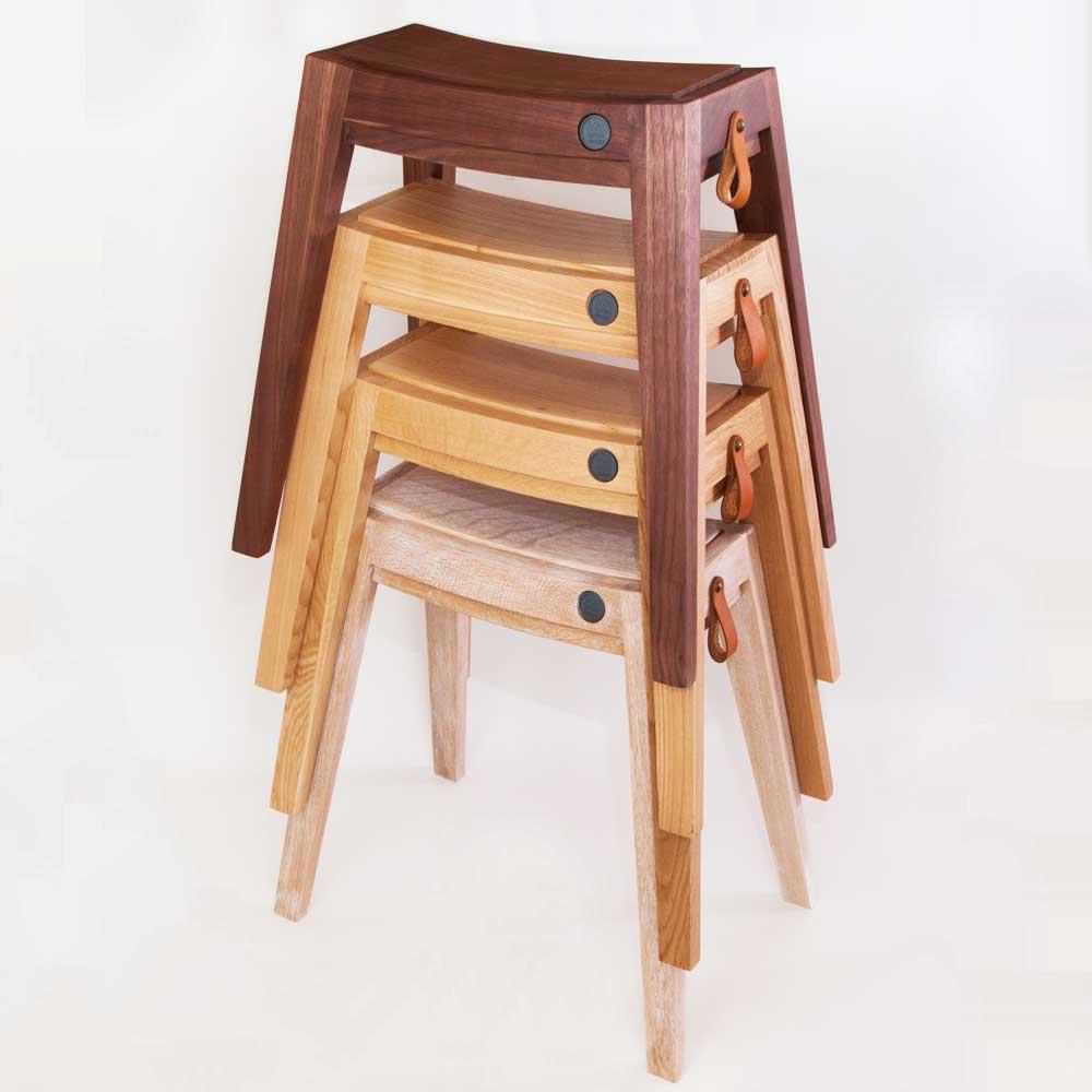 スタッキングチェア スタッキングスツール スツール 無垢 ウッド 木製 [b2c スタッキング・スツール(オーク)] 椅子 いす イス チェア チェアー  シンプル 家具