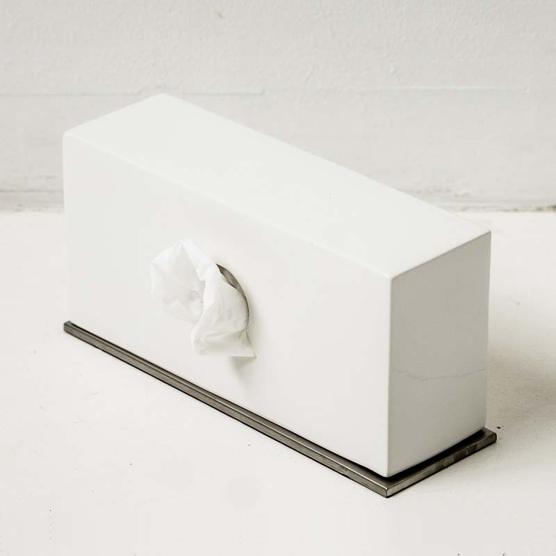 Tissue Case Cover Bo B2c Ceramic Stand White