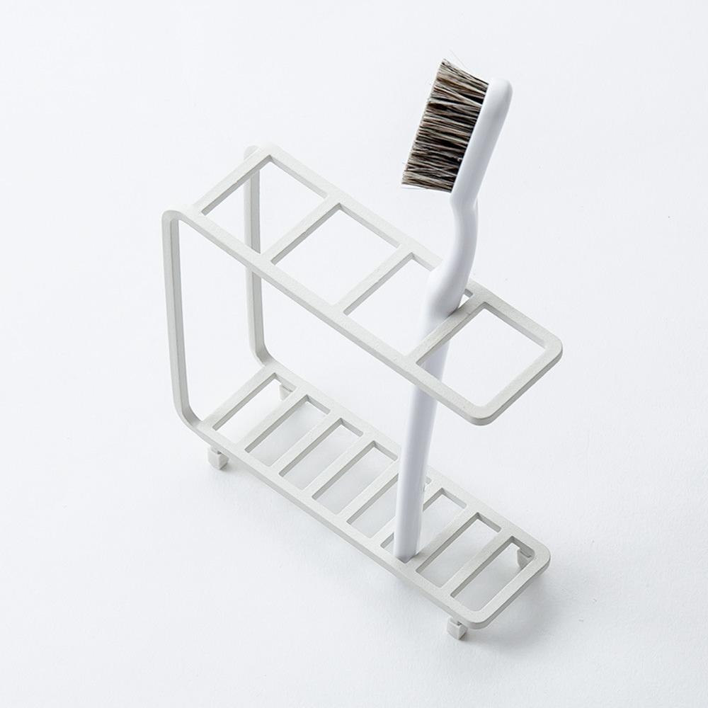 倉庫 歯ブラシスタンド 歯ブラシホルダー 歯ブラシ立て b2cワイヤー歯ブラシスタンド 即納 バスワイヤー 歯ブラシ立て#SL_BT シンプルな角ワイヤー製の歯ブラシスタンド b2c