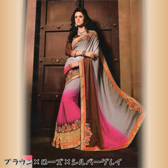 【すべて1点物】高級インドサリー/インド民族衣装 他にはない存在感!ブライダルからイベント衣装に◎お呼ばれドレスや浴衣替わりにも!送料・代引き手数料無料
