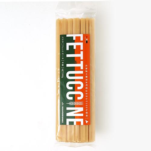 小麦粉 はるきらり 北海道 通常便なら送料無料 並行輸入品 十勝清水町産 はるきらり100%使用 フェットチーネ 平麺 200g パスタ