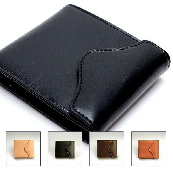 【 送料無料 】HARVIE&HUDSON (ハービーアンドハドソン) 二つ折り財布 日本製ブライドルレザー 札入れ 牛革 サイフ 財布 二つ折り【即日出荷】
