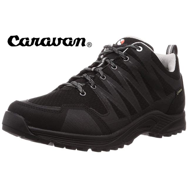 CARAVAN【キャラバン】c1_LIGHT LOW 登山靴 トレッキング 2019年モデル 0010115 190ブラック(メンズ・レディース)