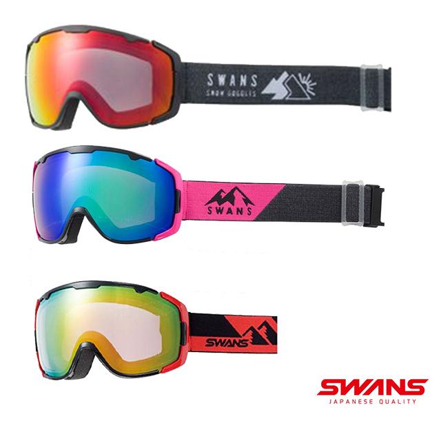 SWANS スワンズ ゲレンデ 雪山 本日限定 冬 ダブルレンズ 新発売 紫外線カットヘルメット対応 150-MDHS スノーボード ゴーグル 曇り止め 男女兼用 スキー