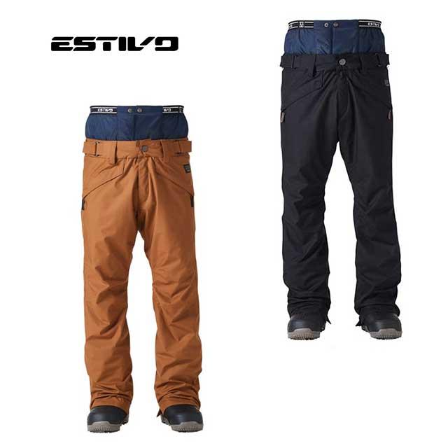 【売り尽くし】エスティボ EV-PLUSH PNT パンツ EVM3902 スノーウェアー 防水 軽量 雪山 スノボ スノーボード 雪遊び アクティビティー ゲレンデ(メンズ)