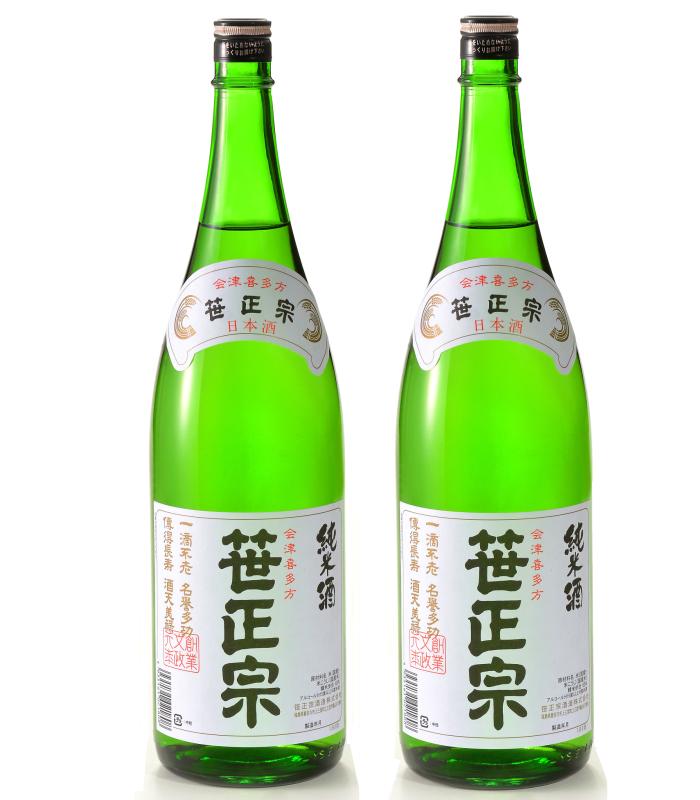 お得な2本セット 純米酒 1.8L 笹正宗 日本酒 お酒 ギフト プレゼント お祝い 還暦 誕生日 感謝 記念 贈り物
