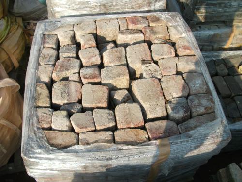 大型|レンガ 国内 煉瓦 れんが  アンティーク ガーデニング 古煉瓦 庭 花壇 半ます パレット 6段