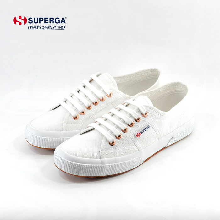 スペルガ SUPERGA2750 COTU CLASSIC クラシック ローカット 通学・通勤 ホワイト ローズゴールド(White-Rose Gold(25cm~)) S000010 スニーカー メンズ ユニセックス シューズ 靴