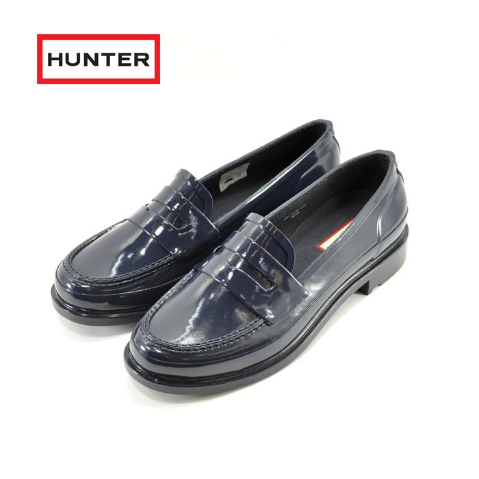 ハンター HUNTERオリジナル ペニーローファー ORIGINAL PENNY LOAFER ラバー 完全防水 ネイビー(NAVY) WFF1006RGL 長靴 レインシューズ レディース シューズ 靴