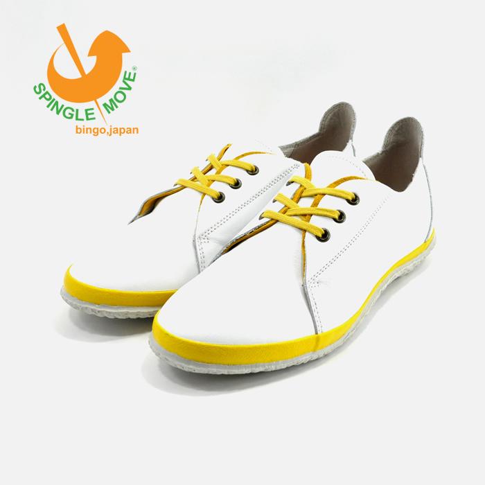 スピングルムーヴ SPINGLE MOVESPINGLE NIMA ALLY スピングルニーマ ALLY ゴートレザー ヤギ革 山羊革 本革 ローカット ホワイト/イエロー 白・シロ(WHITE/YELLOW) NIMA172 スニーカー レディース シューズ 靴