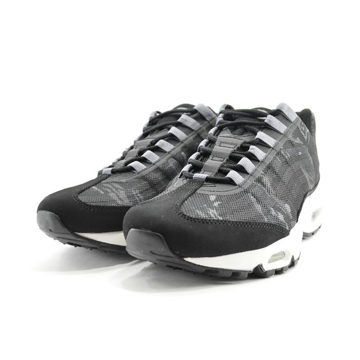 Nike Nike AIR MAX 95 PRM TAPE Air Max 95 premium tape low frequency cut marathon running walking black, black, 599425 black () that there is BLACK