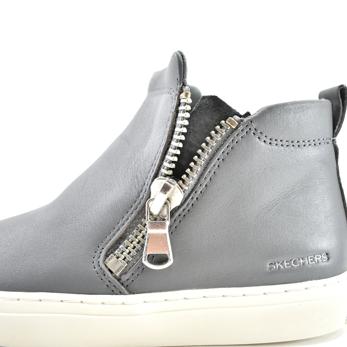 40% OFF SALE スケッチャーズ SKECHERS women Vaso Bota zipper double zip boots higher frequency elimination leather genuine leather gray (GRAY) 48869 boots