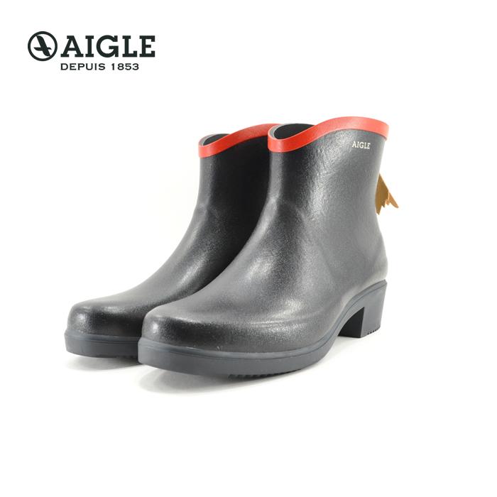 エーグル AIGLEMS JULIETTE BOT ミスジュリエット ボッティロン ショート ラバー 完全防水 マリン ルージュ ネイビー(MARINE ROUGE) ZZF8404 長靴 レインシューズ レディース シューズ 靴