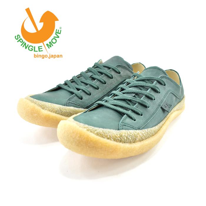 スピングルムーヴ SPINGLE MOVESPINGLE MOVE スピングルムーヴ ローカット カウレザー・牛革 日本製 通学・通勤・ウォーキング ダークグリーン(DARK GREEN(25cm~)) SPM203 スニーカー メンズ ユニセックス シューズ 靴